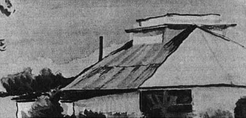 Tegning af kalkværket ved Poul Kristensen (Eje) (1950)..